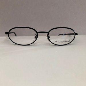 Dolce & Gabbana Black Metal Eyeglass Frames Unisex